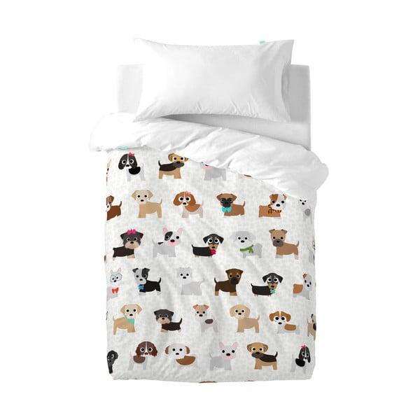 Detské bavlnené obliečky na paplón a vankúš Mr. Fox Dogs, 100 × 120 cm