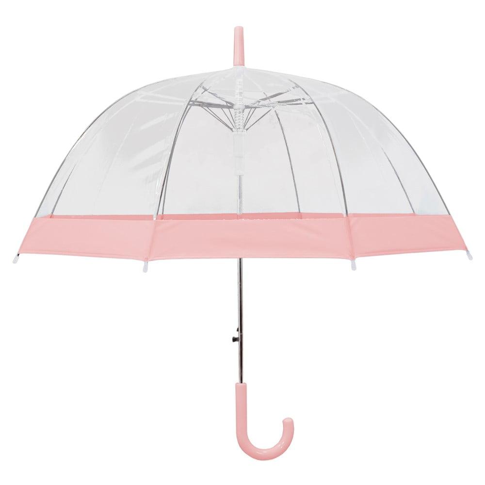 Transparentní holový deštník sautomatickým otevíráním Ambiance Pastel Pink, ⌀85cm