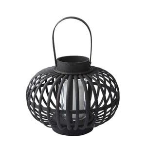 Svícen Hurricane Bamboo, 34 cm, černý