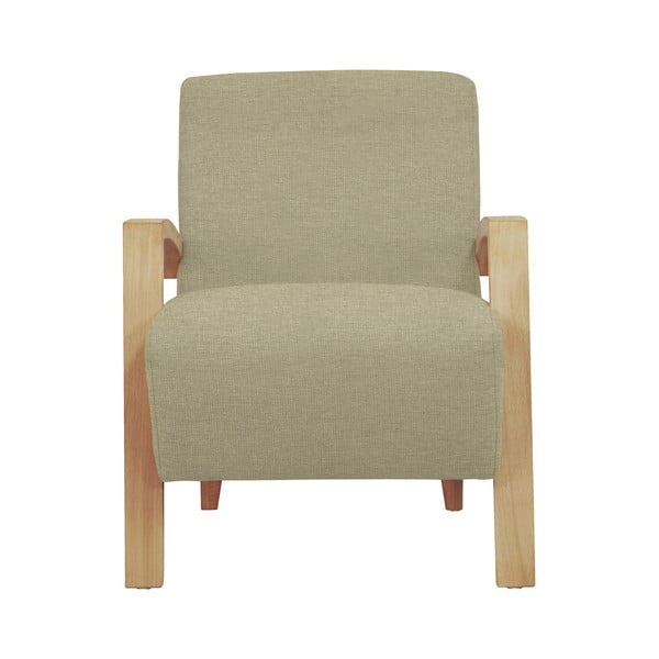 Béžové křeslo se světlými nohami Windsor & Co Sofas Luna