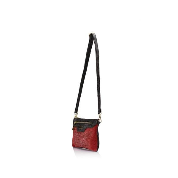 Červená kožená kabelka Lisa Minardi Veronica