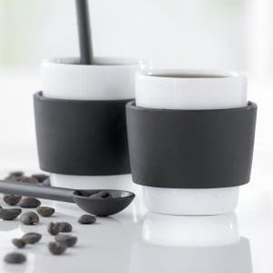 Set 2 căni espresso Steel Function Milano, 100 ml