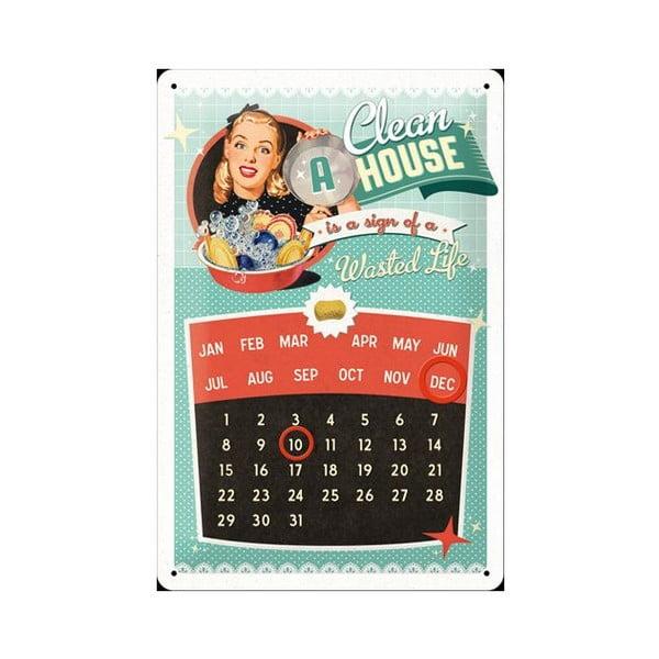 Plechový kalendář A clean house, 20x30 cm