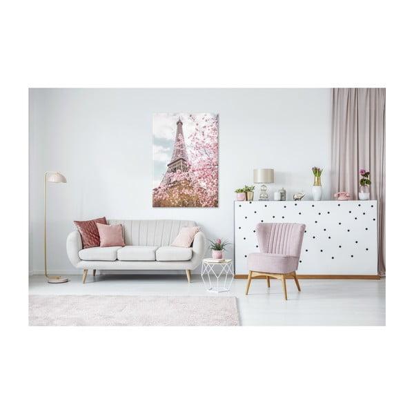 Tablou imprimat pe pânză Styler Romantic Eiffel, 100 x 75 cm