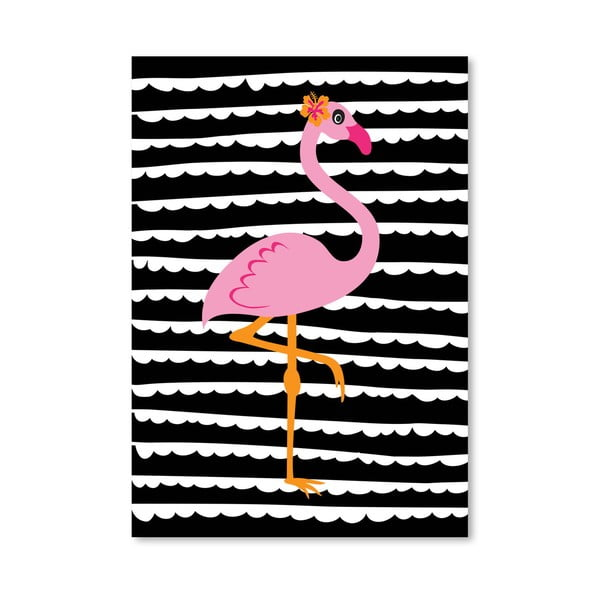Plakát Striped Flamingo