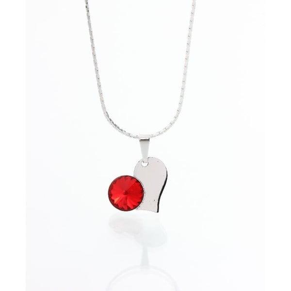 Červený náhrdelník se Swarovski krystaly Yasmine Heart