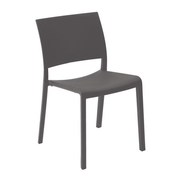 Sada 2 tmavě šedých zahradních jídelních židlí Resol Fiona