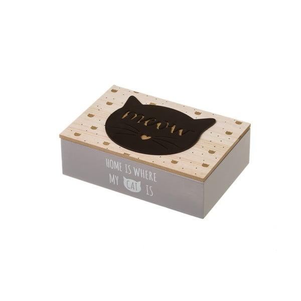 Úložná krabička Unimasa Kitty Black,24x16cm