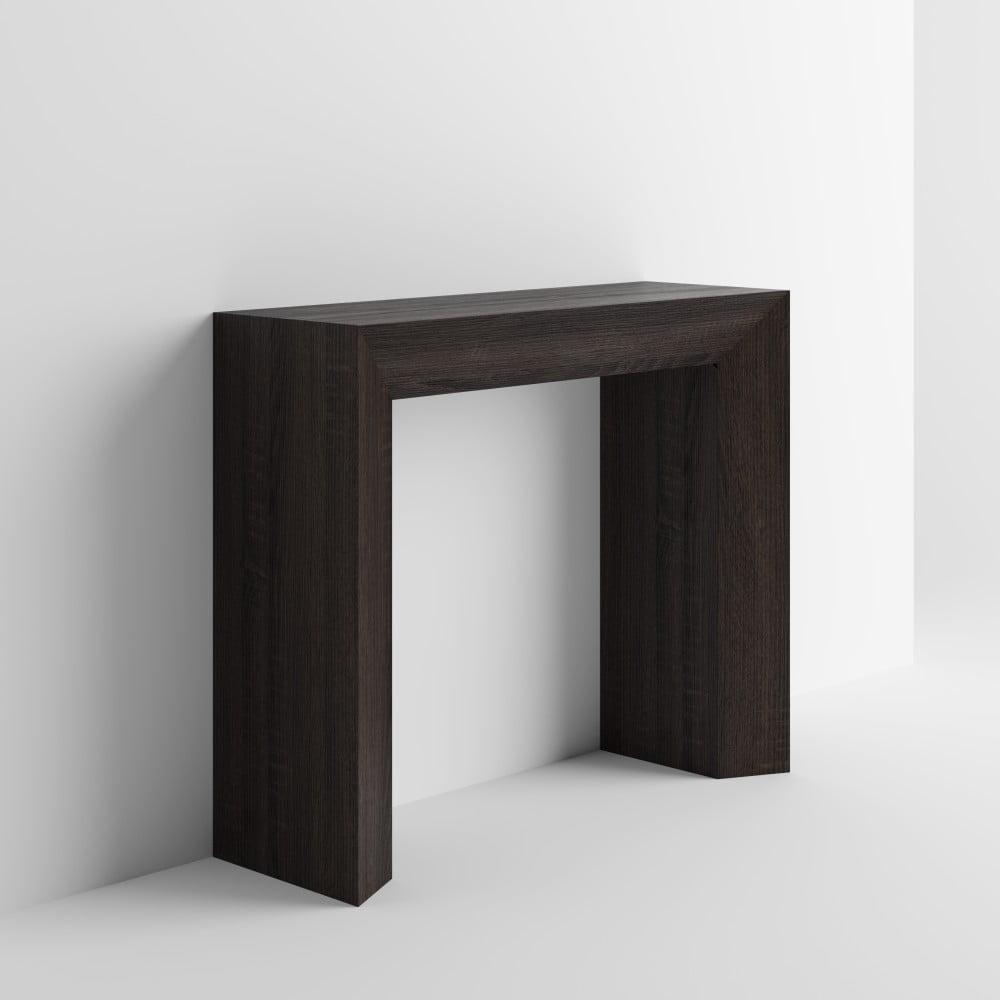 Konzolový stolek v dekoru tmavého dubu MobiliFiver Giuditta