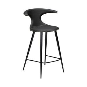 Černá kožená barová židle DAN–FORM Denmark Flair Leather