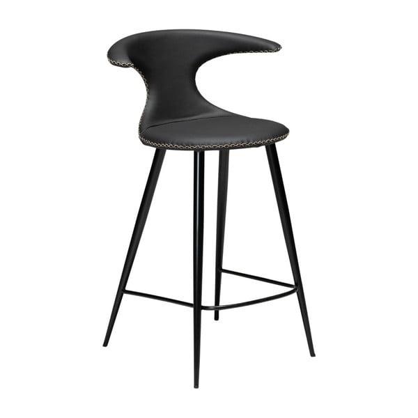 Čierna kožená barová stolička DAN–FORM Denmark Flair Leather