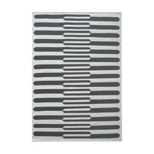 Covor de lână țesut manual Linie Design Urd, 170 x 240 cm, gri