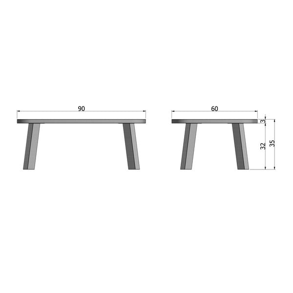 Konferenční stolek z dubového dřeva De Eekhoorn Tonda, délka90cm