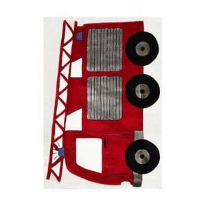 Covor pentru copii Happy Rugs Fireman Truck, 120x180 cm
