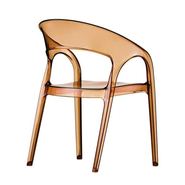 Židle Gossip 620, transparentní amber