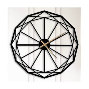 Černé kovové nástěnné hodiny Alvin