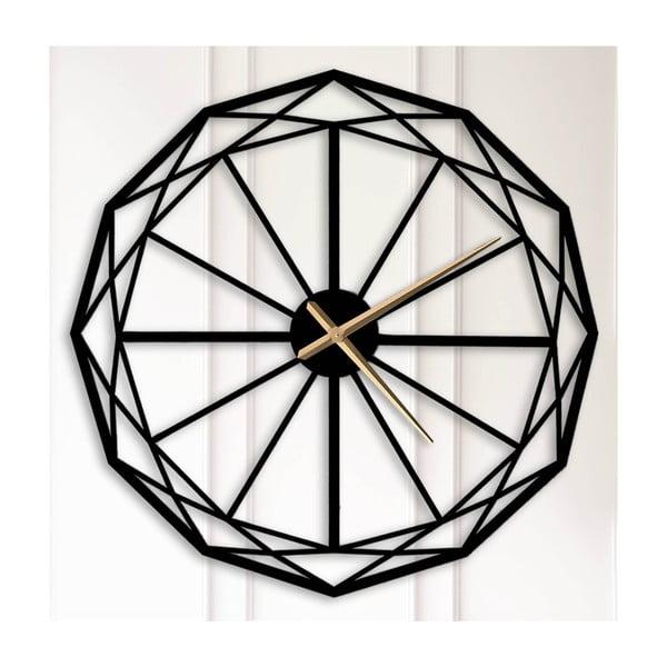 Čierne kovové nástenné hodiny Alvin