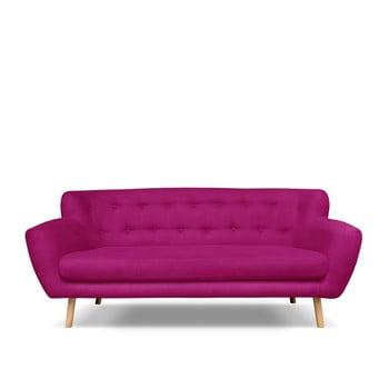 Canapea cu 3 locuri Cosmopolitan design London roz închis