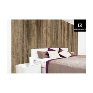 Velkoformátová tapeta Eurographics Brown Wood Wall,254x366 cm