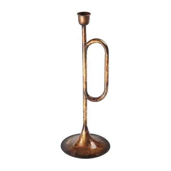 Svícen Gold Trumpet