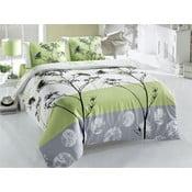 Lenjerie de pat cu cearșaf Blezza Green, 200x220cm