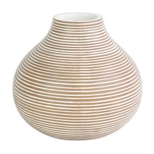 Světle hnědá polyresinová váza Stardeco, 27 cm