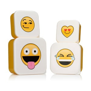 Set 4 cutii alimente NPW Emojinal Lunchboxes