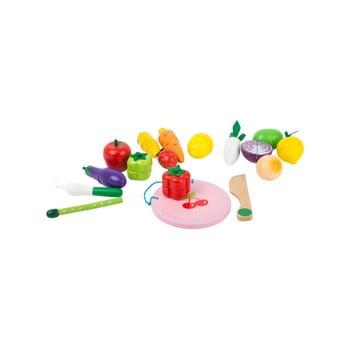 Set jucării din lemn cu magneți pentru copii Legler Fruits and Vegatable de la Legler