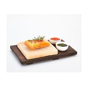 Servírovací podnos se solnou deskou a miskami Salt Plate, 38x27 cm