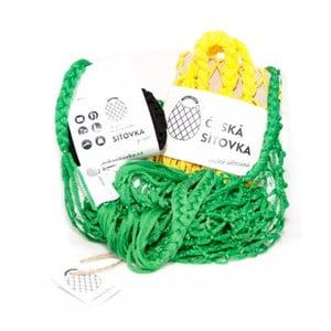 Sada 4 síťovek - zelená/černá/žlutá/zelená