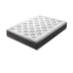 Bílá matrace s šedým okrajem Bobochic Paris Fraicheur,160x200cm