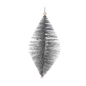 Decorațiune suspendată Dakls, lungime 24 cm, argintiu imagine