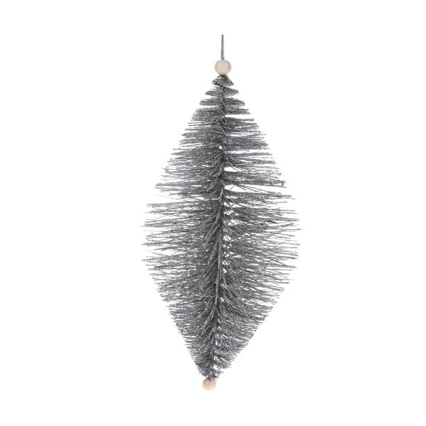 Závěsná ozdoba ve stříbrné barvě Dakls, délka 24 cm