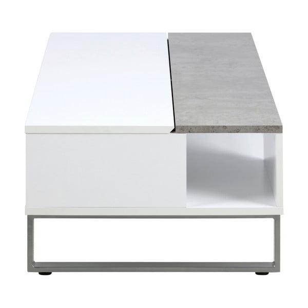 Bílo-šedý konferenční stolek Actona Azalea