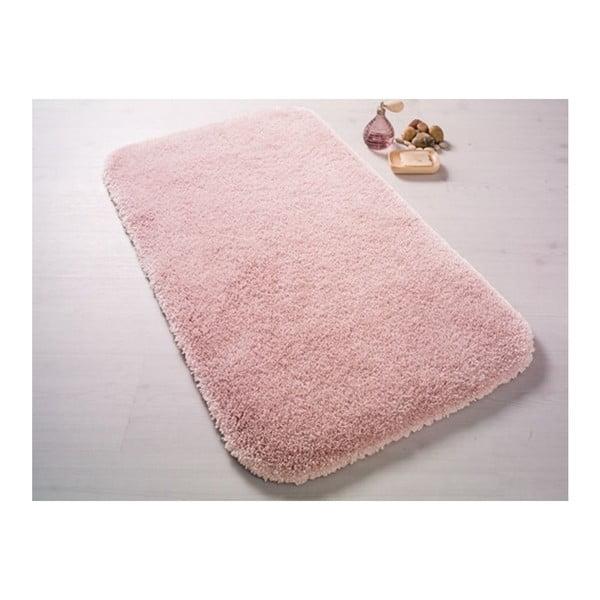 Pudrově růžová předložka do koupelny Confetti Bathmats Miami, 67x120cm