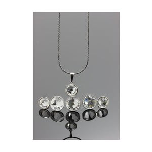 Set Swarovski Elements Double Crystal