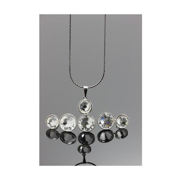 Set Swarovski Elements Double Crystal