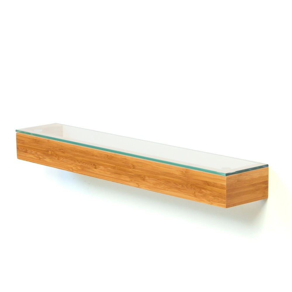 Bambusová polička do koupelny Bamboo Wireworks, délka 55 cm