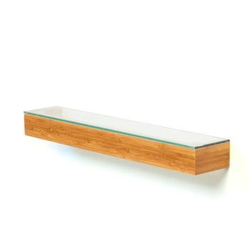 Etajeră din lemn cu blat din sticlă, Wireworks Bamboo, 55 cm de la Wireworks