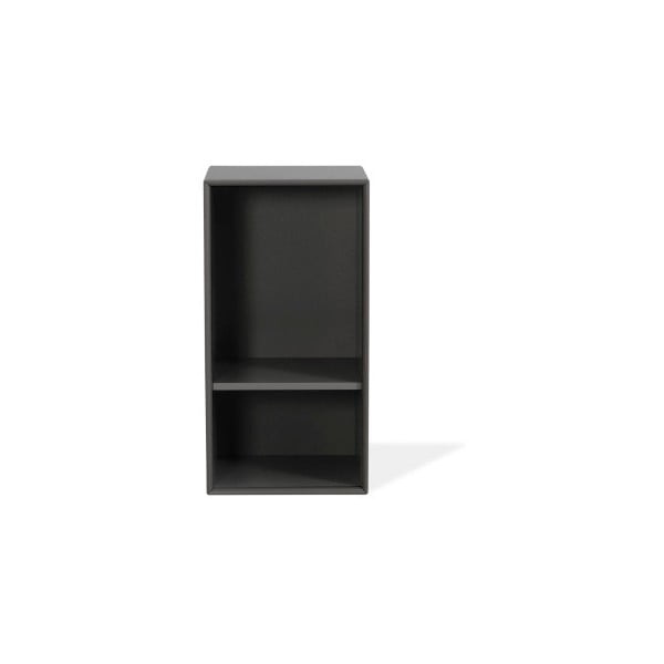 Tmavosivá polica Tenzo Z Halfcube, 36 x 70 cm