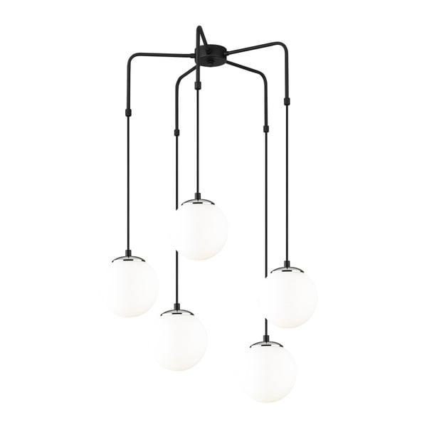 Czarna metalowa lampa wisząca Opviq lights Palma