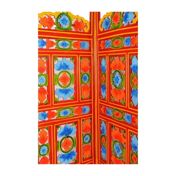 Paravan Orient 204x181 cm, oranžový