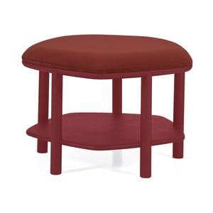 Červený taburet z jasanového dřeva HARTÔ Abel, ⌀55cm