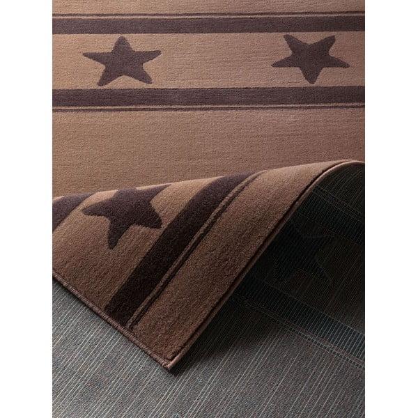 Dětský hnědý koberec Hanse Home Hvězda, 140x200 cm