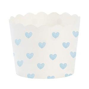 Coșulețe din hârtie pentru brioșe Miss Étoile Blue Heart, 24 buc.