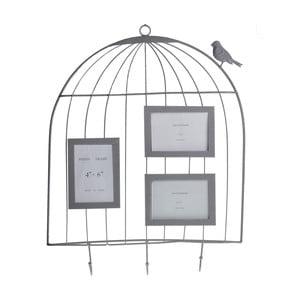Závěsná dekorace s fotorámečky Ptáček v kleci