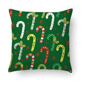 Zelený polštář Crido Consulting Festive Santa, 40 x 40 cm