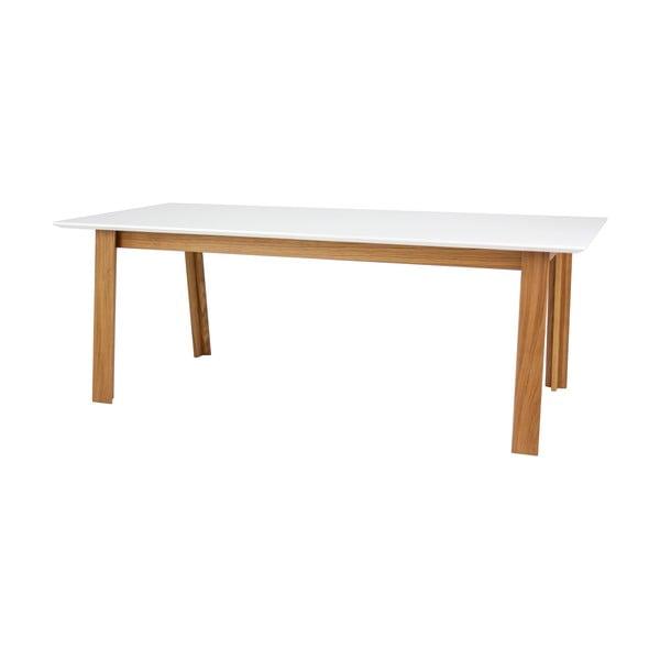 Biały stół rozkładany w dekorze drewna dębowego Tenzo Profil