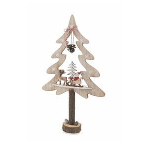 Vánoční dřevěná dekorativní soška Villa d'Este Forest Albero Grande Decorativo