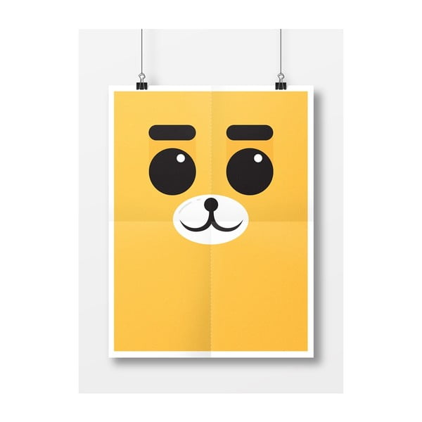 Plakát Medvěd Žlutý, A4